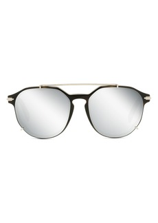 Christian Dior Men's Dior Diorblacksuit 56mm Round Sunglasses - Havana/other / Smoke Mirror