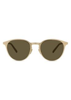 Christian Dior Men's Dior Dioressential 50mm Round Sunglasses - Matte Light Gold/ Smoke Mirror