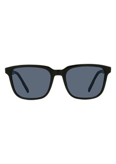 Christian Dior Men's Dior Diortag 54mm Square Sunglasses - Shiny Black / Blue
