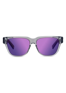 Christian Dior Men's Dior Diorxtrem 57mm Mirrored Square Sunglasses - Grey/other / Bordeaux Mirror