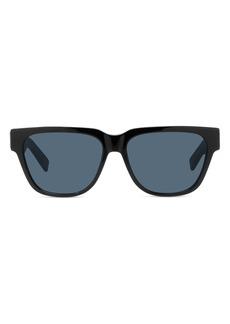 Christian Dior Men's Dior Diorxtrem 57mm Square Sunglasses - Shiny Black / Smoke