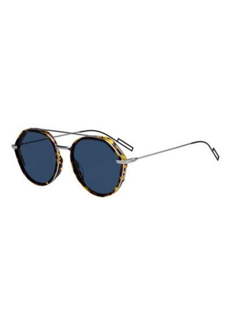 d7e55e17d8 Christian Dior Men s Round Metal Acetate Sunglasses with Double Bridge