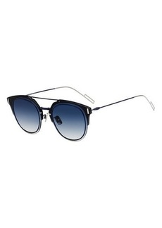 Christian Dior Men's Round Universal-Fit Graphic Sunglasses