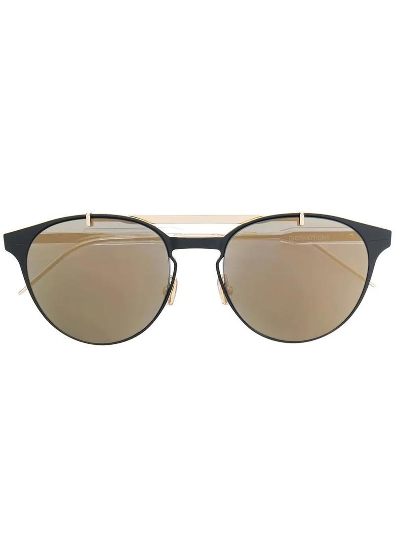 Christian Dior metal bar detail sunglasses