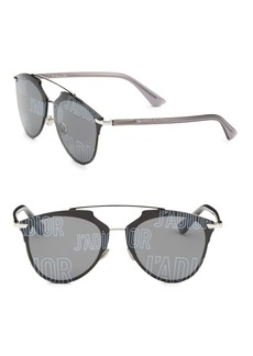 Christian Dior Reflected Prism 63MM Mirrored Modified Pantos Sunglasses