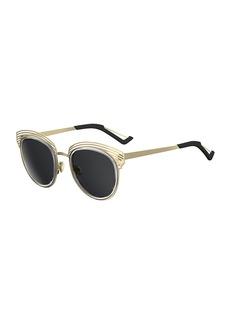 Christian Dior Round Titanium Shutter Sunglasses