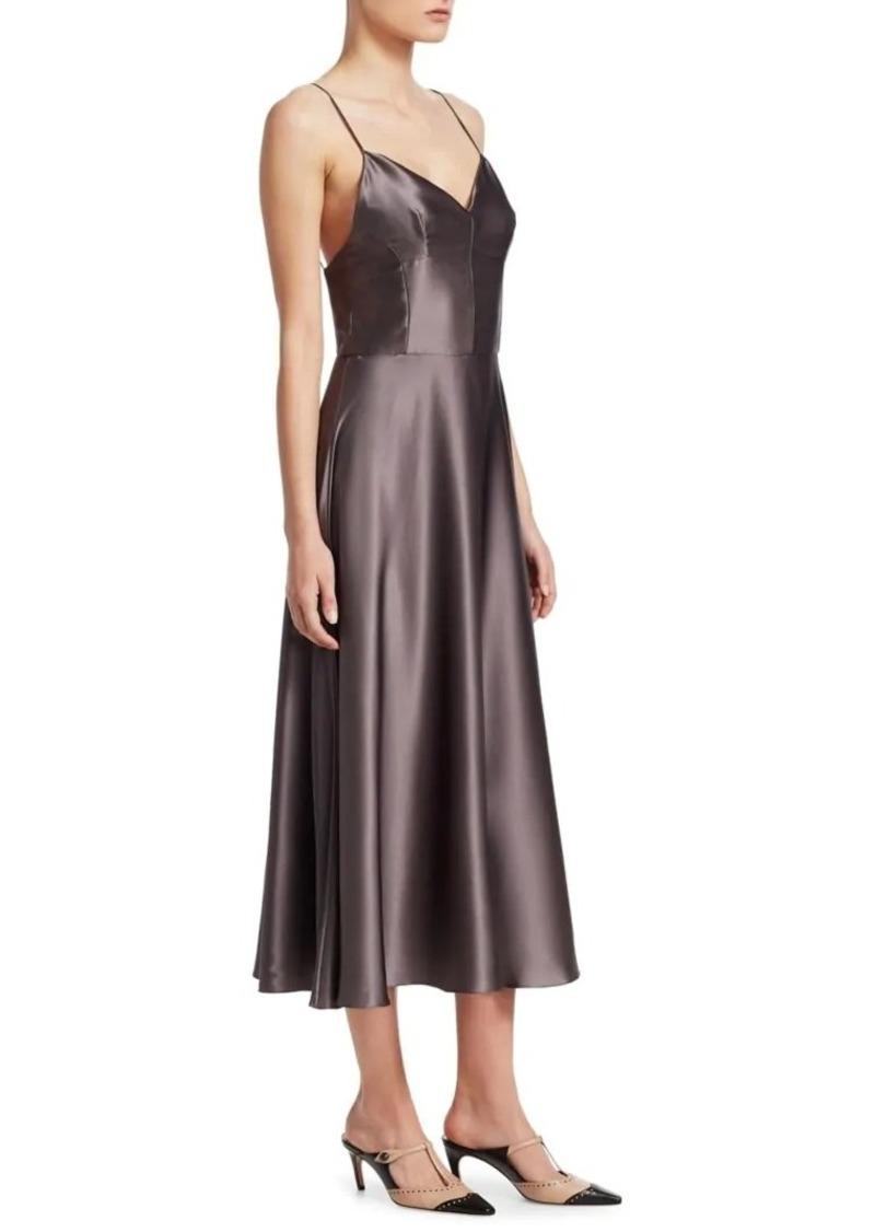 promo code 98c06 4b664 Satin Crepe A-Line Slip Dress