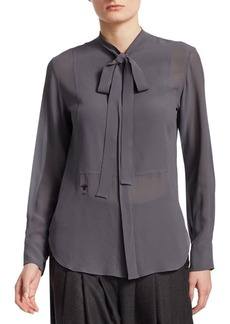 Christian Dior Silk Blouse with Tie
