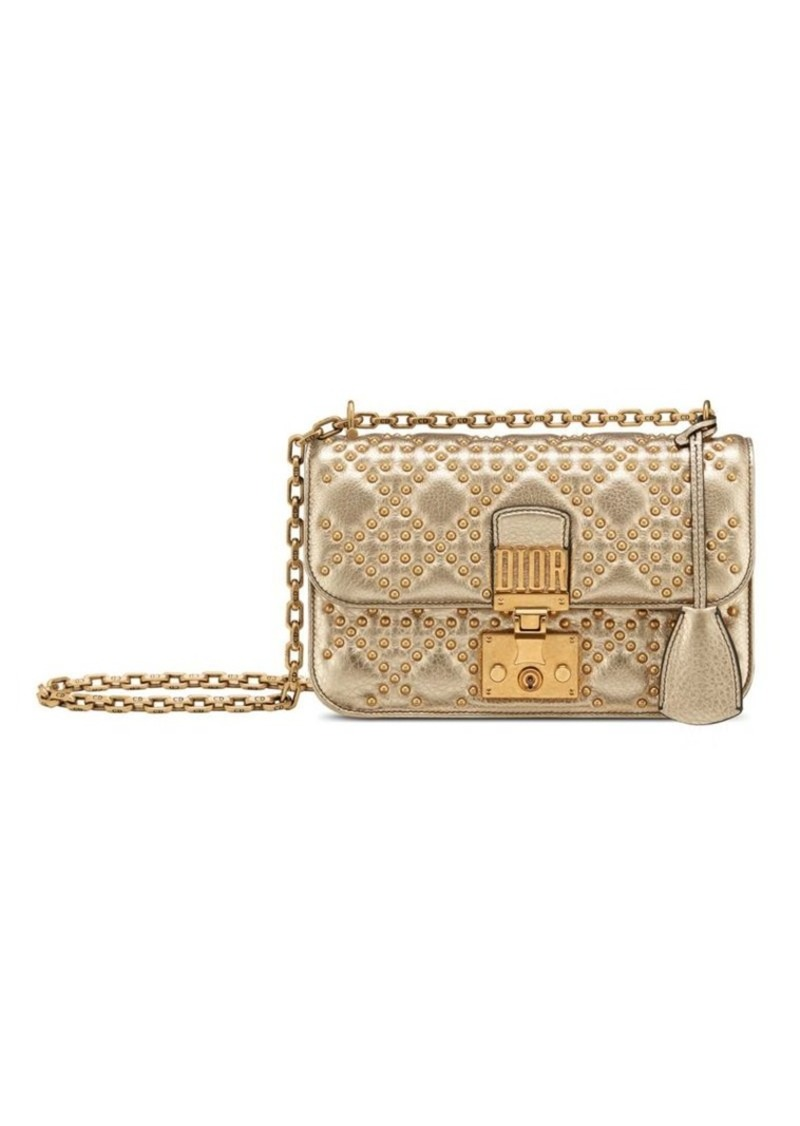 4307de7c3d Christian Dior Small Metallic Cannage Leather Dioraddict Flap Bag ...