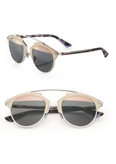 Christian Dior So Real 48MM Leather-Trim Metal Sunglasses