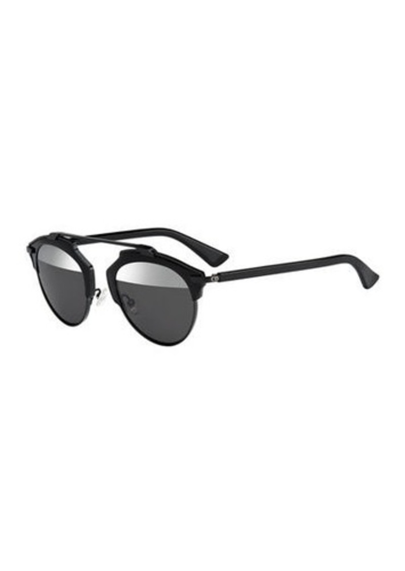 Christian Dior So Real Brow-Bar Mirrored Sunglasses