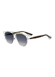 Christian Dior Technologic Cutout Aviator Sunglasses