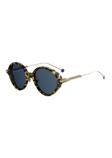 Christian Dior Umbrags Round Printed Sunglasses