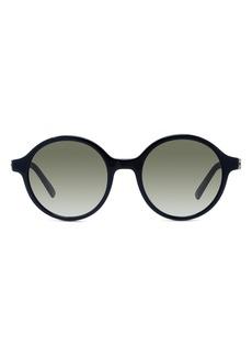 Christian Dior Women's Dior 30Montaigne Mini 51mm Gradient Round Sunglasses - Black/ Grey