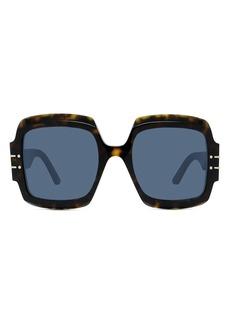 Christian Dior Women's Dior Signature 55mm Butterfly Sunglasses - Blonde Havana / Gradient Smoke