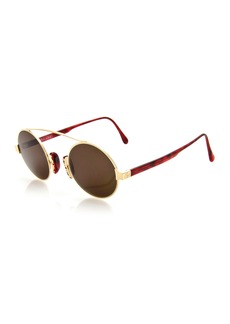Christian LaCroix Round Brow-Bar Sunglasses