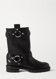 Christian Louboutin Bikita Spiked Leather Ankle Boots