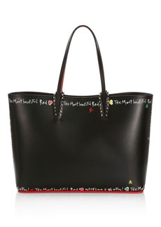 Christian Louboutin Cabata Writing Leather Tote