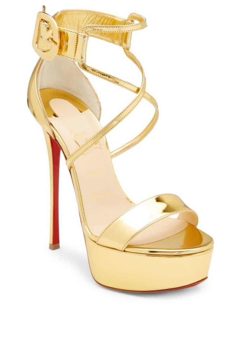 d67dfd3cd1fb Christian Louboutin Choca 130 Mirrored Leather Platform Sandals