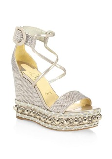 Christian Louboutin Chocazeppa Wedge Sandals