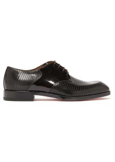 Christian Louboutin À Mon Homme embossed-leather derby shoes