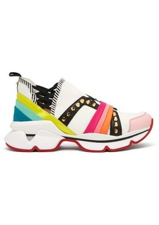 Christian Louboutin 123 Run studded low-top trainers