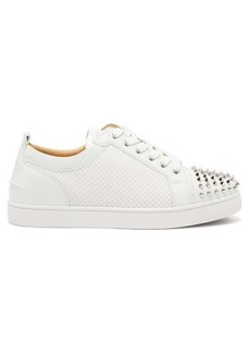 Christian Louboutin AC Louis Junior Spikes mesh and leather trainers