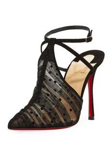 Christian Louboutin Acide Lace Tulle Red Sole Pump