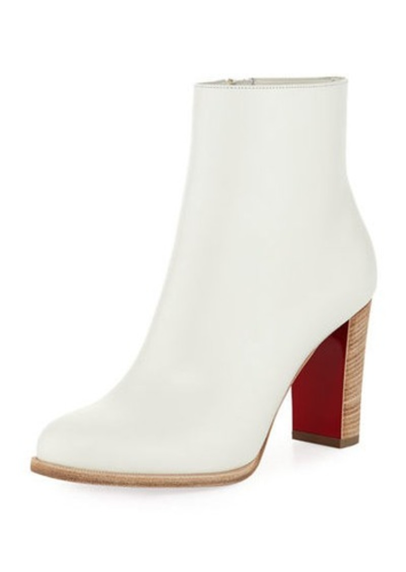 best service a02fe 2129d Adox Leather Block-Heel Red Sole Boot