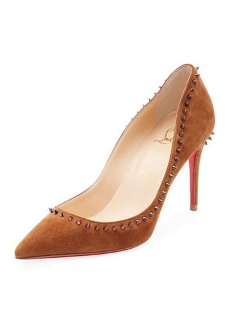 3b157f3a0bd Anjalina Suede Spiked Red Sole Pump