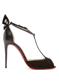 Christian Louboutin Aribak 110 leather and suede sandals