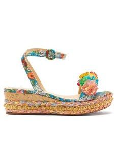 Christian Louboutin Ariellasevillana 60 studded satin flatform sandals