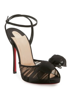 Christian Louboutin Artydiva Ruched Red Sole Sandals