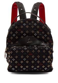 Christian Louboutin Backloubi small glitter jacquard backpack