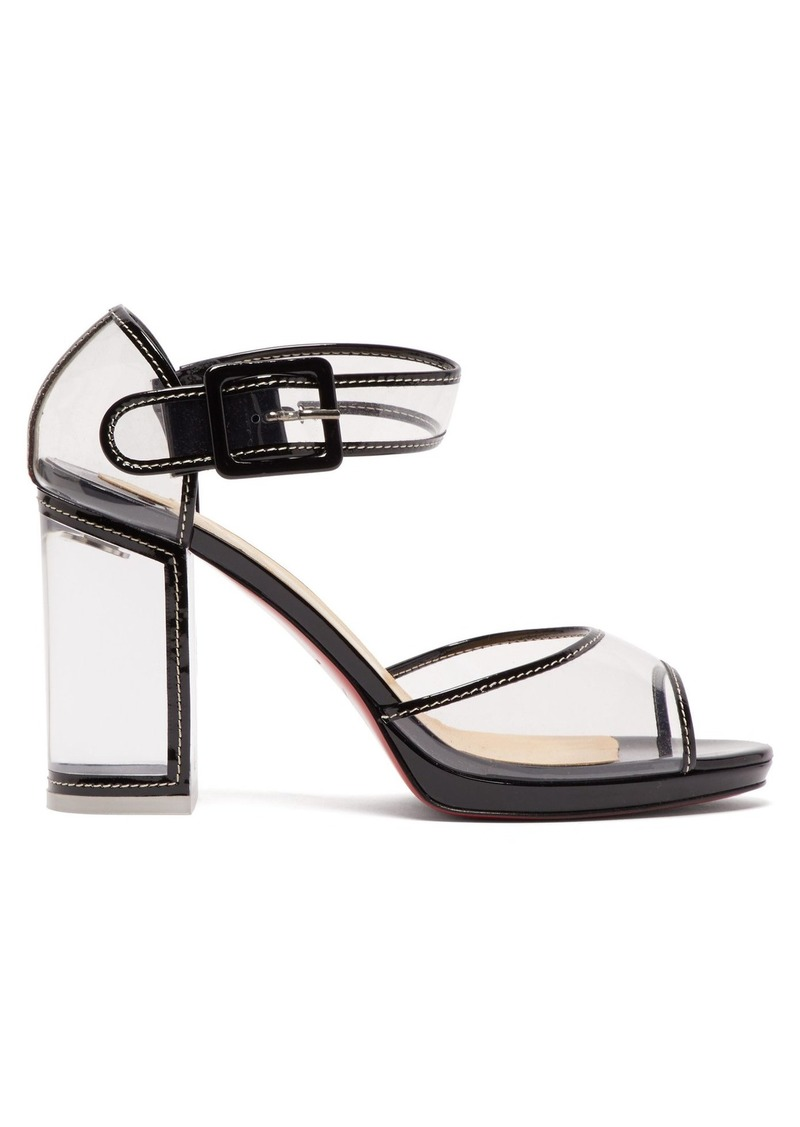 on sale f4e08 12635 Barbaclara 100 patent-leather and PVC sandals