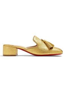 Christian Louboutin Barry 35 tasseled grained-leather mules