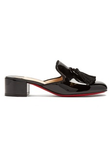 Christian Louboutin Barry 45 tassel-embellished patent-leather mules
