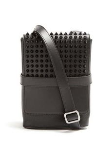 Christian Louboutin Benech Reporter spike leather cross-body bag