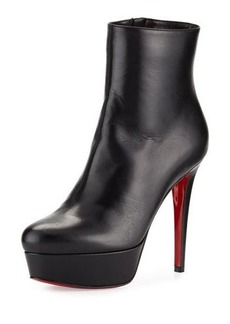 Christian Louboutin Bianca Leather 120mm Red Sole Bootie