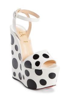 Christian Louboutin Bibariellita Bubble Up Wedge Sandal (Women)