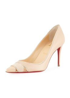 Christian Louboutin Biblio 85mm Piped Cutout Red Sole Pump