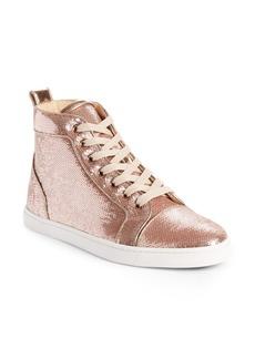 Christian Louboutin Bip Bip Sequin High Top Sneaker (Women)