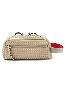 Christian Louboutin Blaster spike-embellished leather washbag