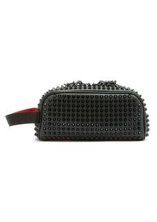Christian Louboutin Blaster studded leather wash bag