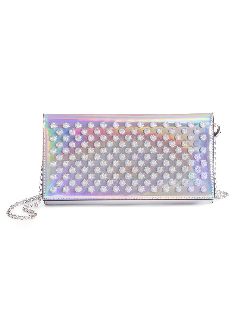5d87f081664 Boudoir Metallic Leather Wallet on a Chain
