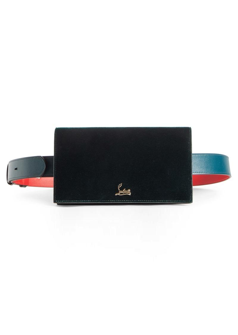 Christian Louboutin Boudoir Velvet Belt Bag