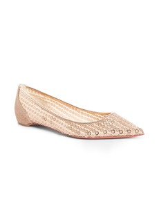 Christian Louboutin Cabaret Sequin Pointy Toe Flat (Women)