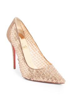 Christian Louboutin Cabaret Sequin Pointy Toe Pump (Women)