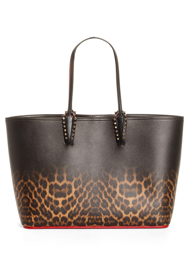 Christian Louboutin Cabata Leopard Degradé Leather Tote (Nordstrom Exclusive)