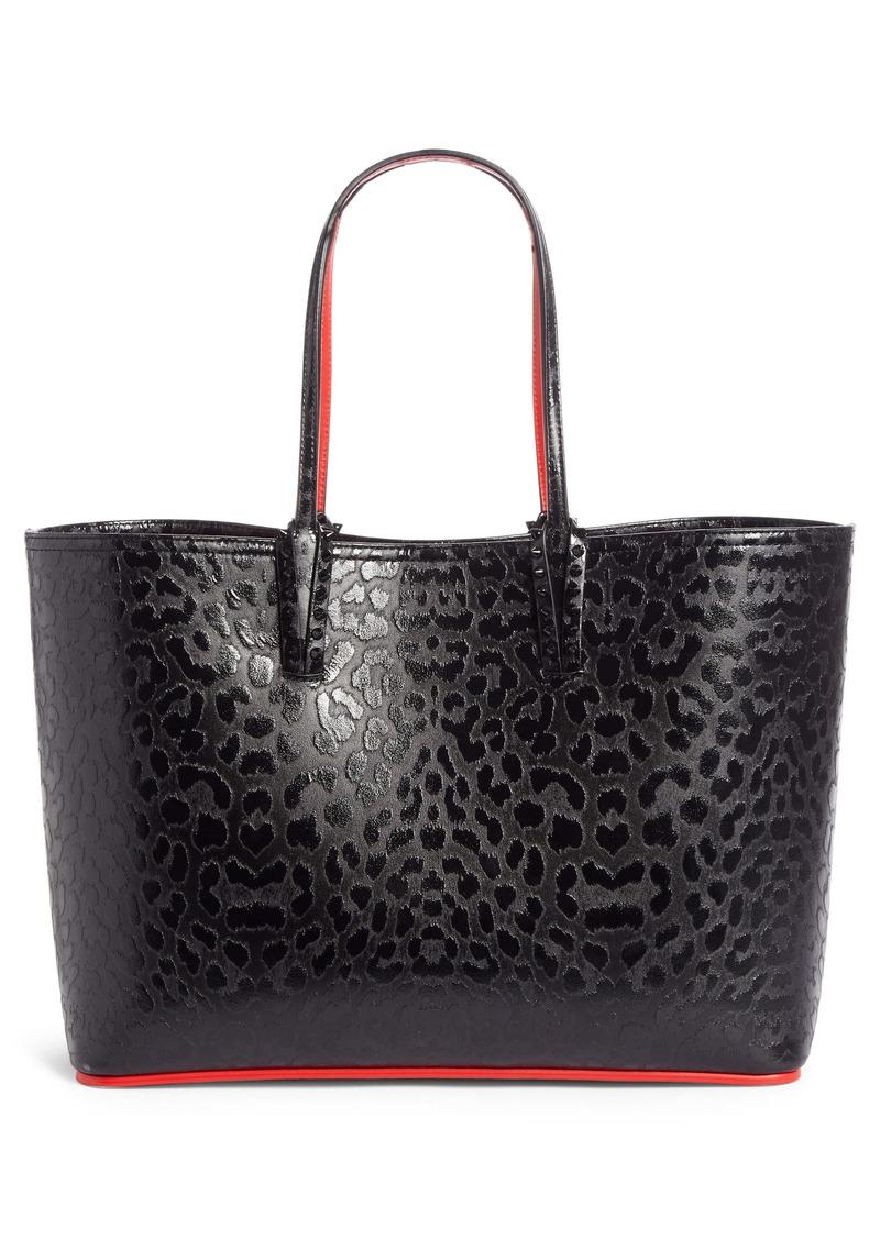 Christian Louboutin Cabata Leopard Print Calfskin Leather Tote
